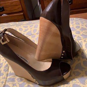 Pair of platform heels